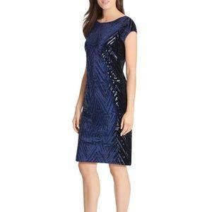 Eliza J Sequined Velvet Shift Dress